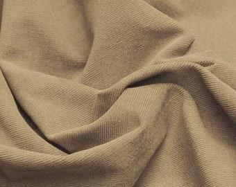 Corduroy 16 Wale Fine Fabric by the Yard 100% Cotton - Khaki 4/18