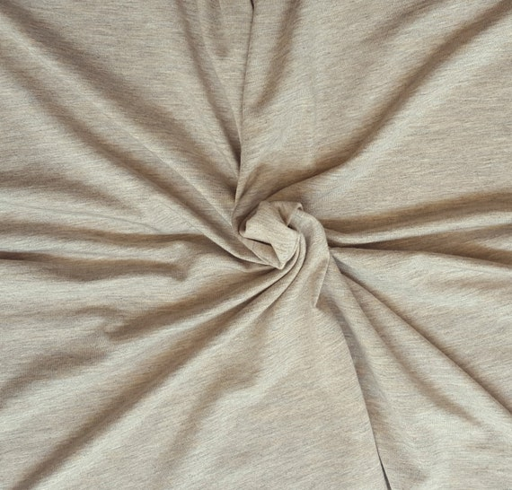 MVS Modal Viscose Spandex Jersey Knit Fabric by the Yard Off White Dyeable
