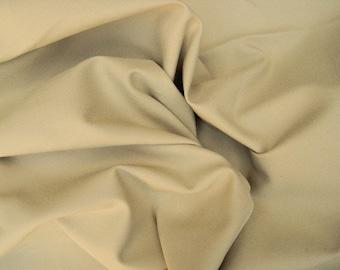 Cotton Twill Spandex Fabric 4 Way Stretch  by the Yard ***KHAKI***