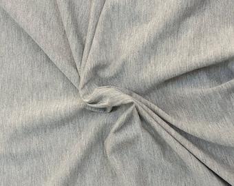 Heather Gray Modal Spandex Fabric Jersey Knit by the Yard HEAVY 4 Way Stretch 10/17