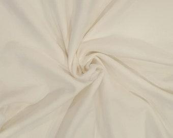 100% Organic Cotton Sweatshirt Fleece Fabric by the Yard Off White
