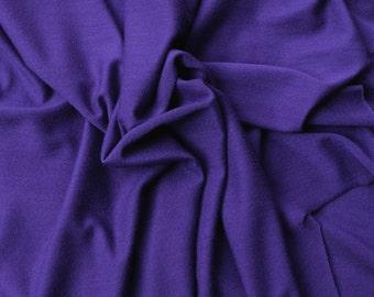 Purple Micro Modal Fabric Jersey Knit Non Stretch by the Yard (Lingerie Underwear Yoga Wear)