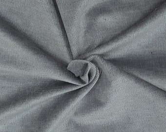 16 Wale Corduroy Cotton Spandex Fabric by the Yard Dusty Blue