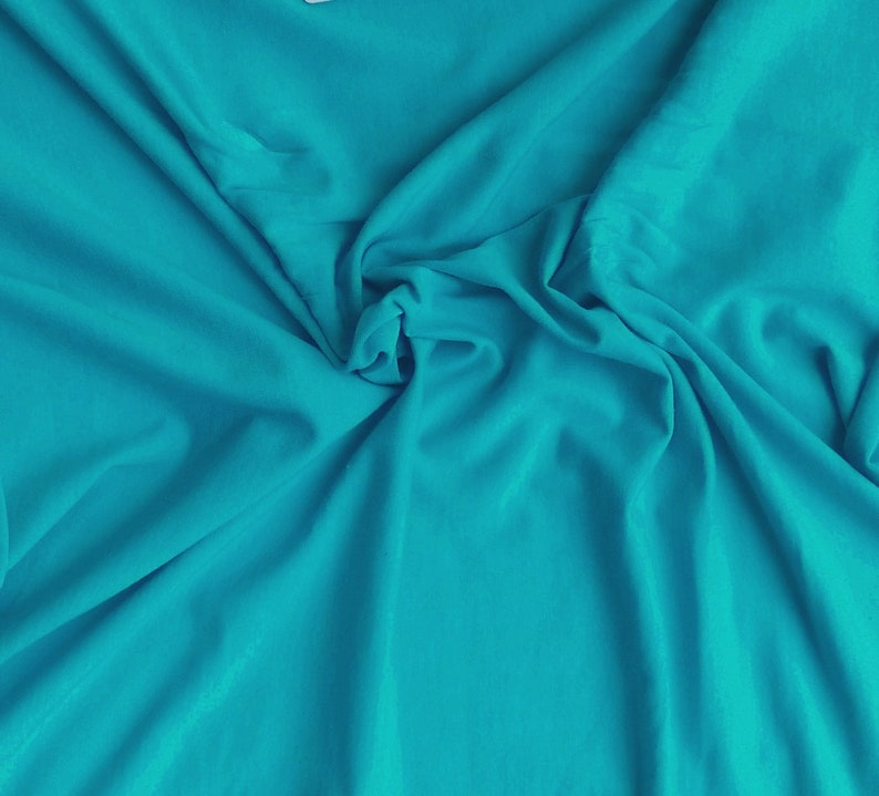 a3021592dad Modal Cotton Spandex Fabric Jersey Knit by the Yard Scuba Blue | Etsy