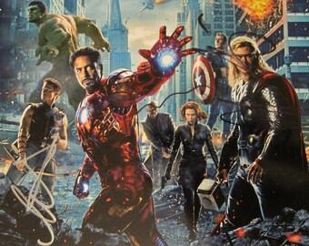 CAPTAIN AMERICA Avenger Authentic Signed Autograph Collectible Rare Chris  HEMSWORTH Tom Hiddleston Cobie Smulders