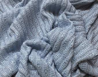 Light Blue Nylon Sweater Knit Fabric by the Yard  (Photography Backdrop)