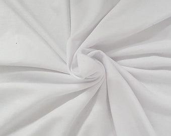 White Hemp Organic Cotton Sweatshirt Fleece Knit Fabric by the Yard