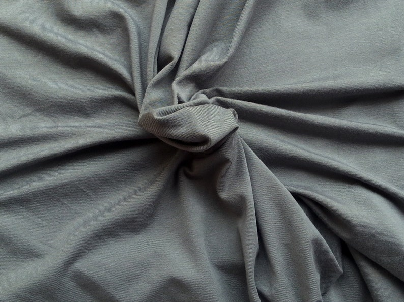 dbdcdd98b7b Gray Micro Modal Spandex Fabric Jersey 4 Way Stretch Knit by | Etsy