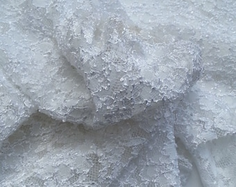 White French Lace Bridal and Lingerie Fabric by the Yard (Wholesale)