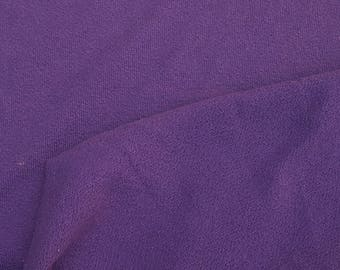 Purple Cotton Knit Fabric by the Yard Double Crepe Heavy Weight 9/15/16