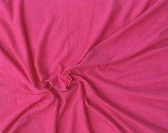 Pink Modal Cotton Spandex Fabric Jersey Knit by the Yard