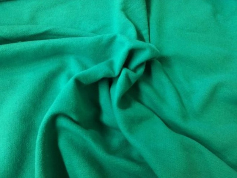 b076ae5a219 Jade Cotton French Terry Knit Fabric by the Yard Heavy Weight | Etsy