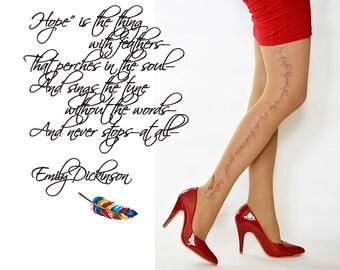 Wedding Lingerie Emily Dickinson Poetry Tights Wedding Etsy
