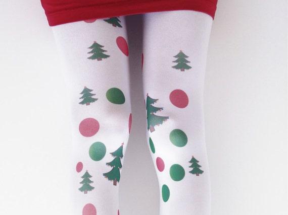 Opaque Christmas Womens Tights Xmas Tights Stockings Etsy