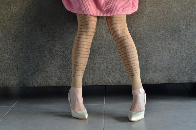 95c432522 Opaque Beige Footless Tights Jane Austen Tights Pride and