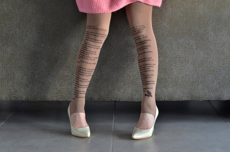 The Raven poem tights