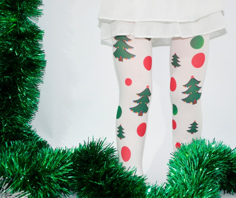 20b69ac259f0c2 Christmas Kids Tights Xmas Tights Stockings Green Red | Etsy