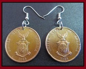Classic Jewelry (1944 Vintage Matching, World War II - United States Administration - 1c Bronze EAGLE and SHIELD Coin Earrings) Kawaii Chic