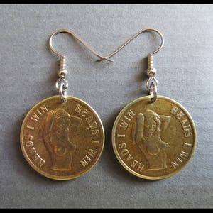 1970s Vintage Nude Peep Show Token: Burlesque, EROTIC, RISQUE Heads I Win, Tails You Lose Coin Classic Nudist NAUGHTY Charm Collection!