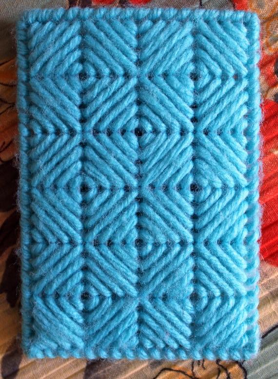 Vintage 1970's 1980's Rainy Blue Knit Umbrella Ca… - image 2