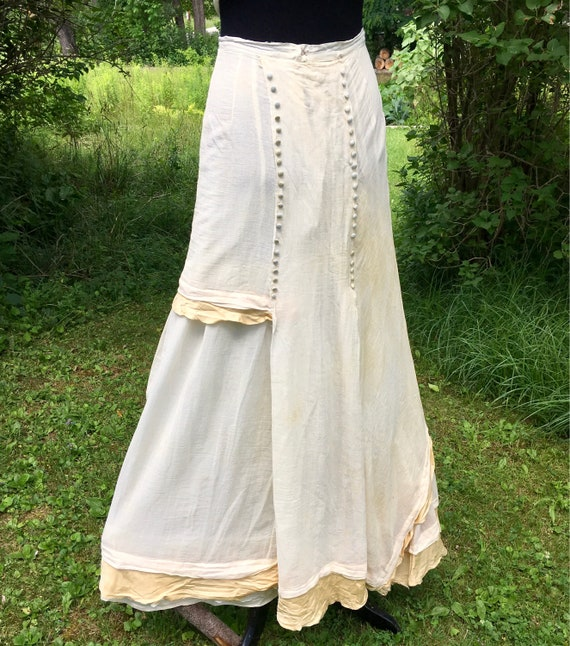 Antique 1910s Gibson Girl Walking Skirt Asymmetric