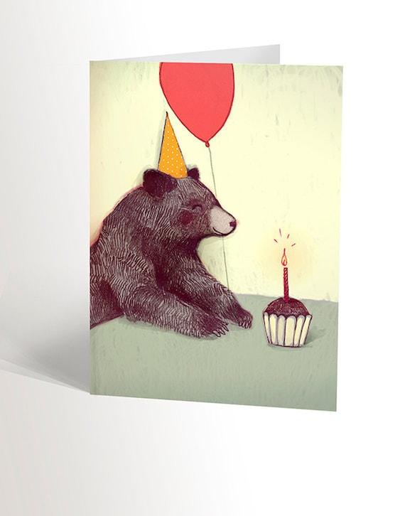 Ours en peluche avec pique-nique Party Merci cartes