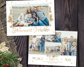 christmas card template for photographers and personal use 5x7 holidays photo card template 048 photoshop template - Christmas Card Templates For Photographers