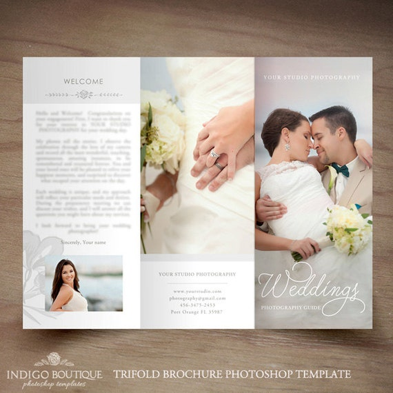 Wedding Photography Trifold Brochure Template Client Welcome Etsy