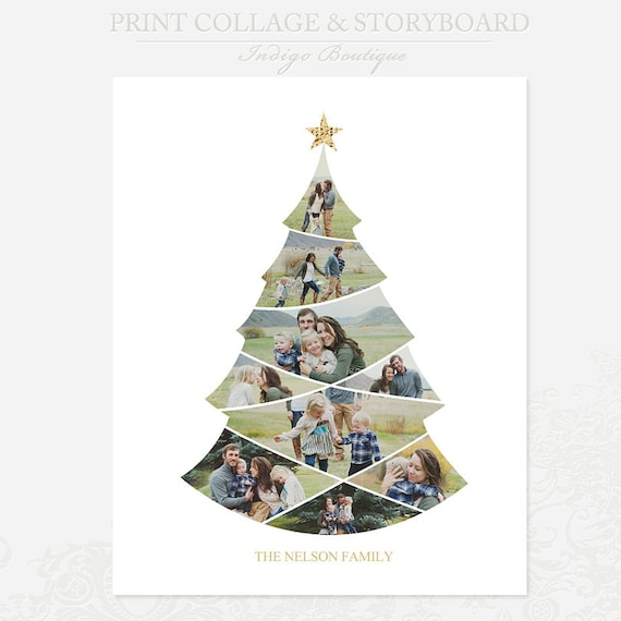 Christmas collage templates photoshop – festival collections.