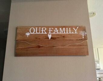 Family photo hanger