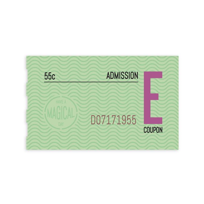 Disneyland E-ticket sticker image 0