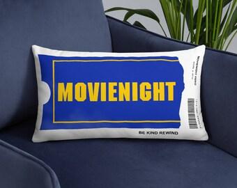Movie Night Blockbuster Video Pillow