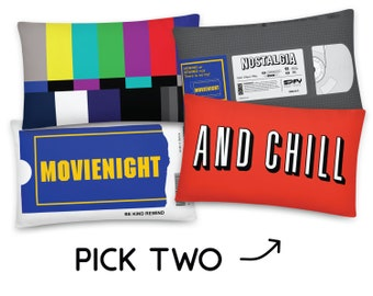 Home Theater Pillow Two Pack