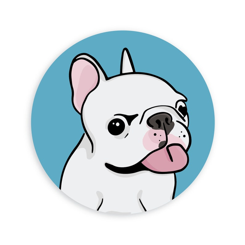 Frenchie Sticker  Cute French Bulldog image 0