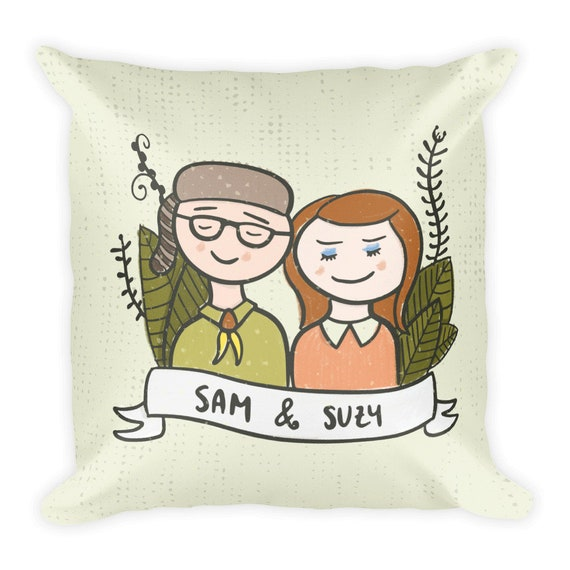 Moonrise Kingdom Art -Wes Anderson gift- Moonrise Quote Wes Anderson  quotes-Wes Anderson art-Wes Anderson fan Moonrise home Moonrise Pillow