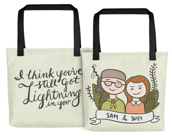 Moonrise Kingdom Art -Wes Anderson gift- Moonrise Quote Wes Anderson quotes  -Wes Anderson art- Wes Anderson fan Moonrise print Moonrise Tote