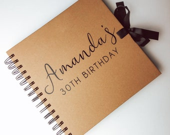 """Personalised guestbook photo album 36 x 6x4/"""" my 30th year memory book birthday"""