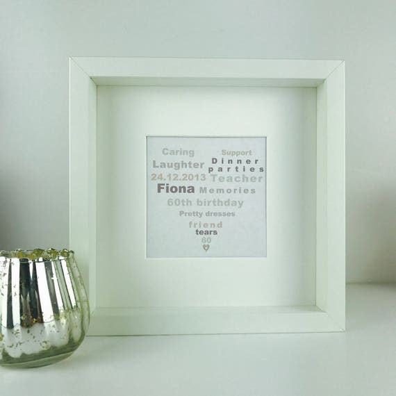 Personalised Picture Frame Any Wording Wedding Birthday Anniversary Gift