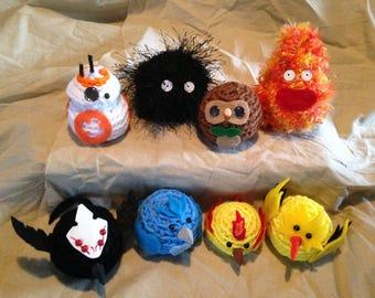 Borbs & Friends! Crocheted Geekery Dolls