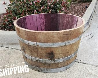 1/2  Planter Wine Barrel