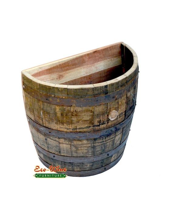 1//4 Whiskey Oak barrel planter Handmade