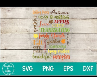 Fall Theme Svg Art Etsy
