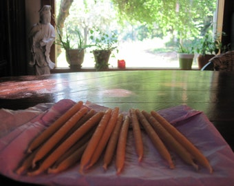 108 Small Beeswax Taper Candles(40 minute burntime)