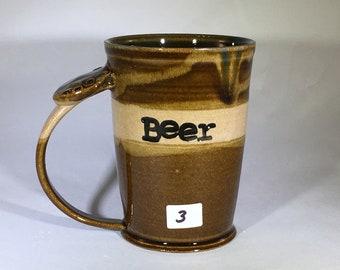 BEER MUG, pottery mug, ceramic mug
