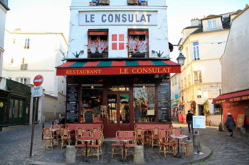 Café restaurant Paris fine art paris photography storefront image 0
