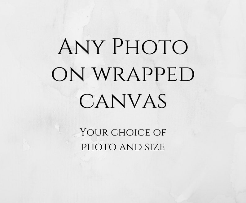 ANY PHOTO Choose any photo in my gallery Gallery wrapped image 0