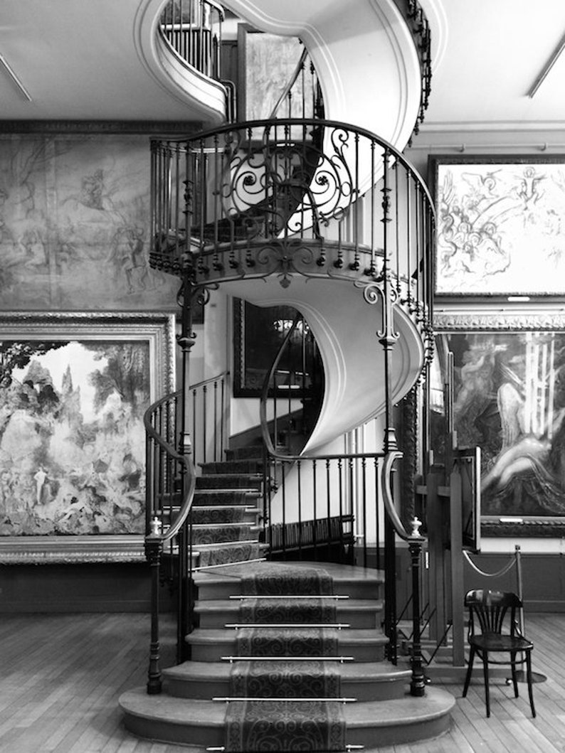 Musée Gustave Moreau photo black and white fine art Paris image 0