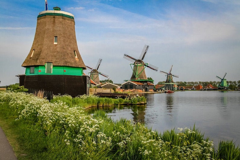 Zaanse Schans photo fine art Netherlands photography Falling image 0