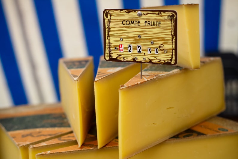 French cheese at the marché in Paris fine art Paris image 0