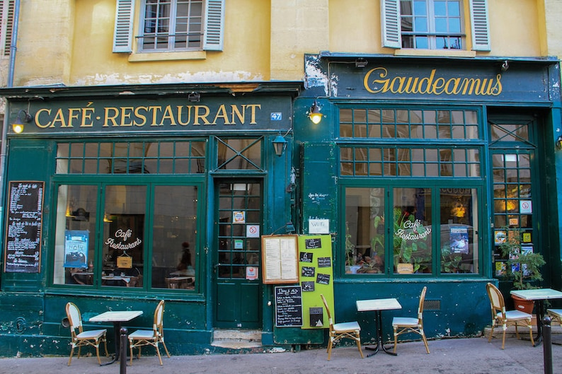 Café restaurant Paris fine art paris photography storefront image 0